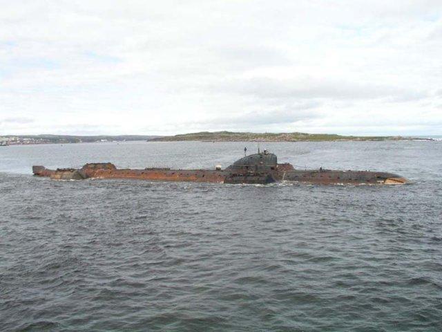 лодка затонувшая в баренцевом море
