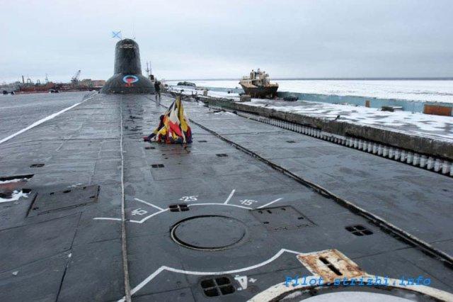 Палуба АПЛ 941-го проекта. Фотография взята из блога Pilot'а. К огла
